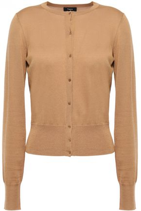 THEORY Silk and cotton-blend cardigan