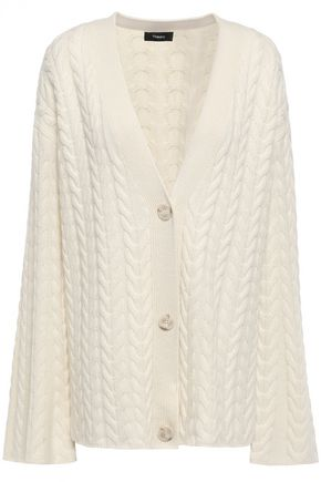 THEORY Cable-knit cashmere cardigan