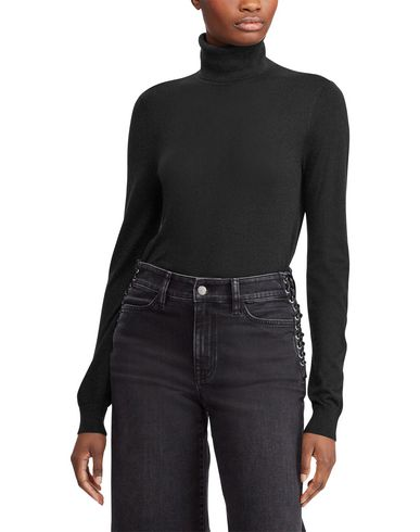 Фото 2 - Женскую водолазку LAUREN RALPH LAUREN черного цвета