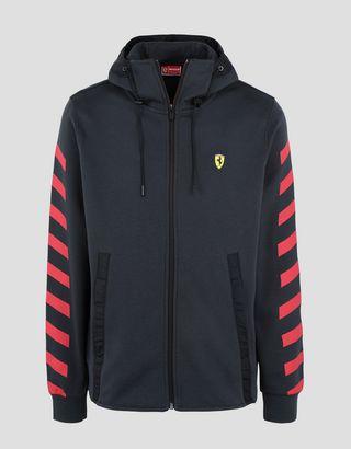 Scuderia Ferrari Online Store - Men's double knit hooded sweatshirt - Zip Jumpers