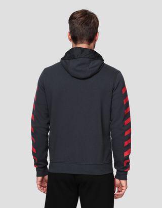 Scuderia Ferrari Online Store - Herrensweater aus Double knit mit Kapuze - Pullover mit Reißverschluss