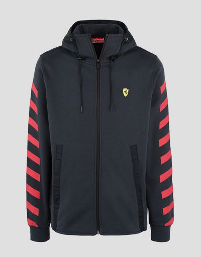 Scuderia Ferrari Online Store - Men's double knit sweatshirt with hood -