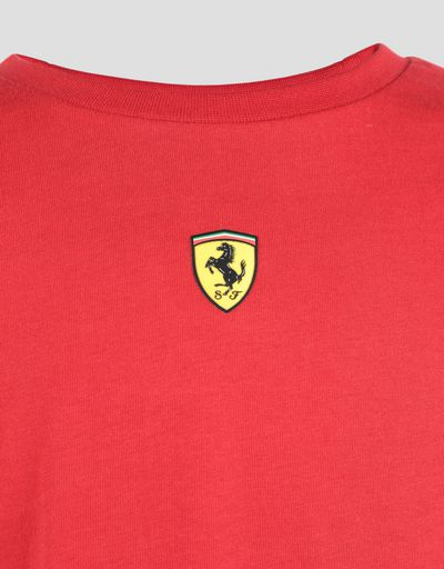 Scuderia Ferrari Online Store - Children's cotton jersey T-shirt with FAST print - Short Sleeve T-Shirts