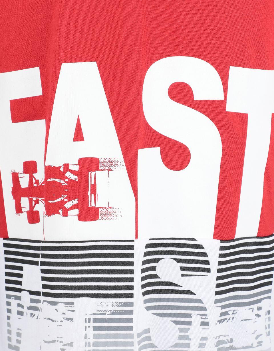 Scuderia Ferrari Online Store - T-shirt pour garçon en jersey de coton avec imprimé FAST - T-shirts à manches courtes