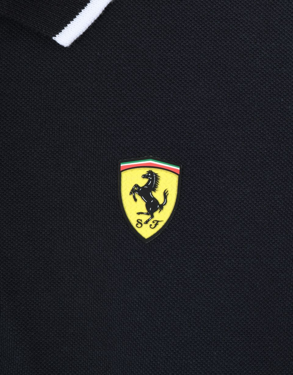 Scuderia Ferrari Online Store - Pique children's polo shirt with contrasting collar band -