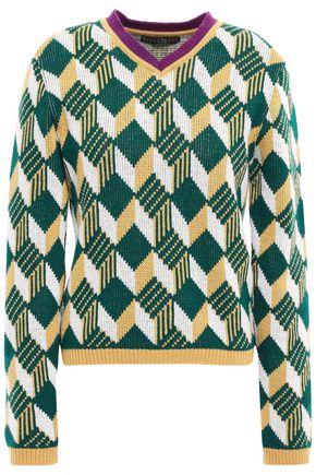 ALEXACHUNG ウールジャカード セーター