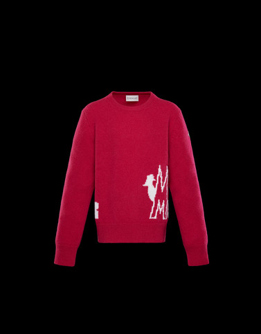 CREWNECK Fuchsia Category Crewnecks Woman