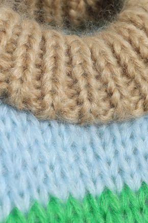 GANNI ストライプ モヘア&ウール混 セーター