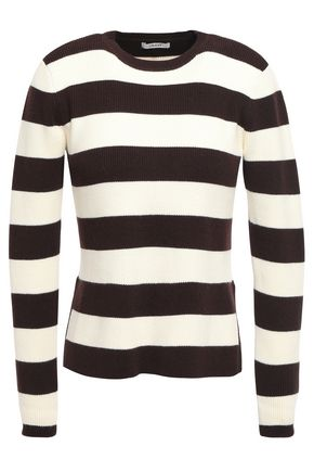 GANNI Poppy striped ribbed cotton-blend sweater