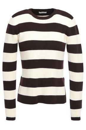 GANNI ストライプ リブ編みコットン混 セーター