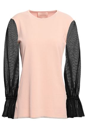 ROKSANDA Paneled stretch-knit top