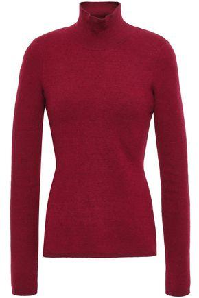 VICTORIA BECKHAM Marled slub knitted turtleneck sweater