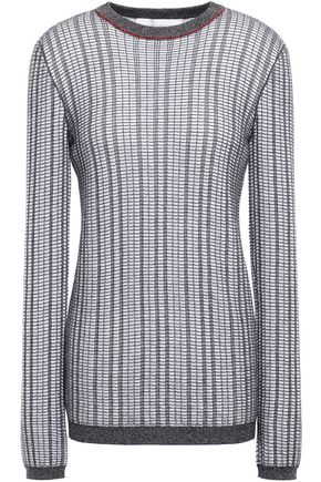 VICTORIA BECKHAM Checked wool and cotton-blend sweater
