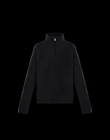 ZIPPED MOCK POLO NECK Black Junior 8-10 Years - Boy