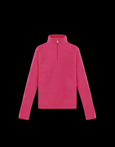 ZIPPED MOCK POLO NECK Pink Teen 12-14 years - Girl Woman