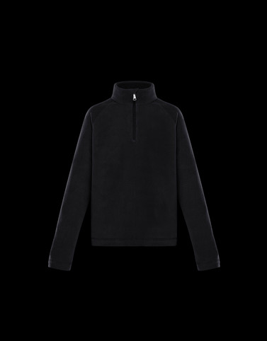 ZIPPED MOCK TURTLENECK Black Kids 4-6 Years - Boy