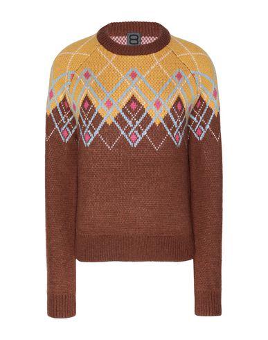 Купить Женский свитер 8 by YOOX коричневого цвета