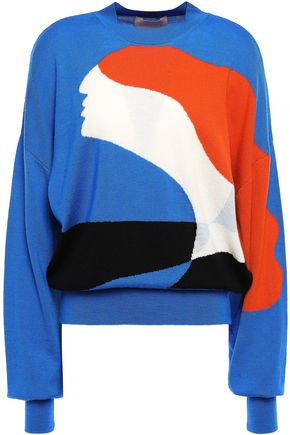 ROKSANDA Intarsia wool sweater