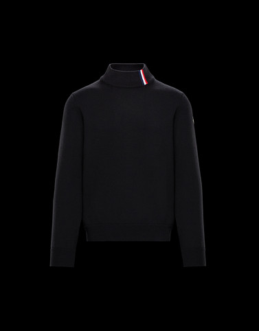 HIGH NECK Black Knitwear & Sweatshirts