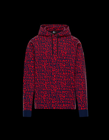 HOODED JUMPER Red Grenoble Knitwear Man