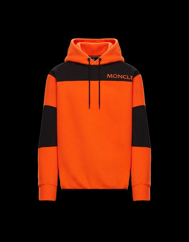 SWEATSHIRT Orange Category HOODED SWEATSHIRTS Man