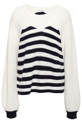 CLAUDIE PIERLOT Striped ribbed-knit sweater