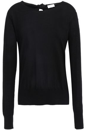 CLAUDIE PIERLOT Cutout knotted wool sweater