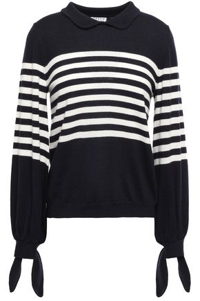 CLAUDIE PIERLOT Knotted striped wool sweater