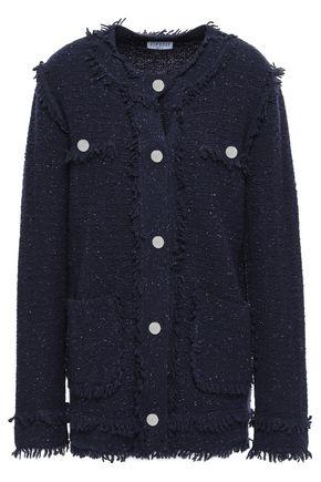 CLAUDIE PIERLOT Fringe-trimmed wool-blend cardigan