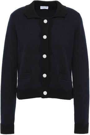 CLAUDIE PIERLOT Button-detailed cotton-and wool-blend cardigan