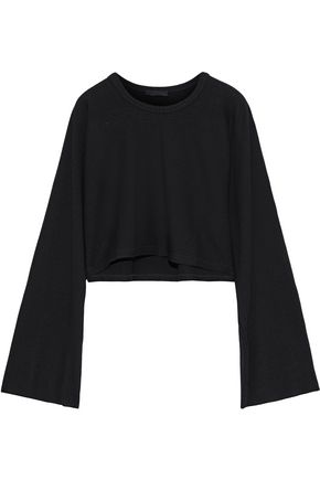 THE RANGE Cropped ribbed-knit top