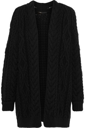 MAJE Mouffle cable-knit wool-blend cardigan