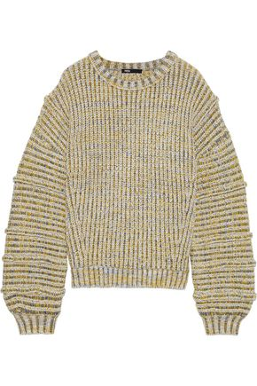MAJE Maous marled ribbed-knit sweater