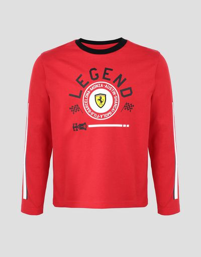 Children's long-sleeved T-shirt with LEGEND print