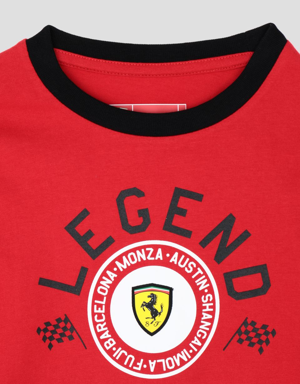 Scuderia Ferrari Online Store - Children's long-sleeved T-shirt with LEGEND print - Long Sleeve T-Shirts