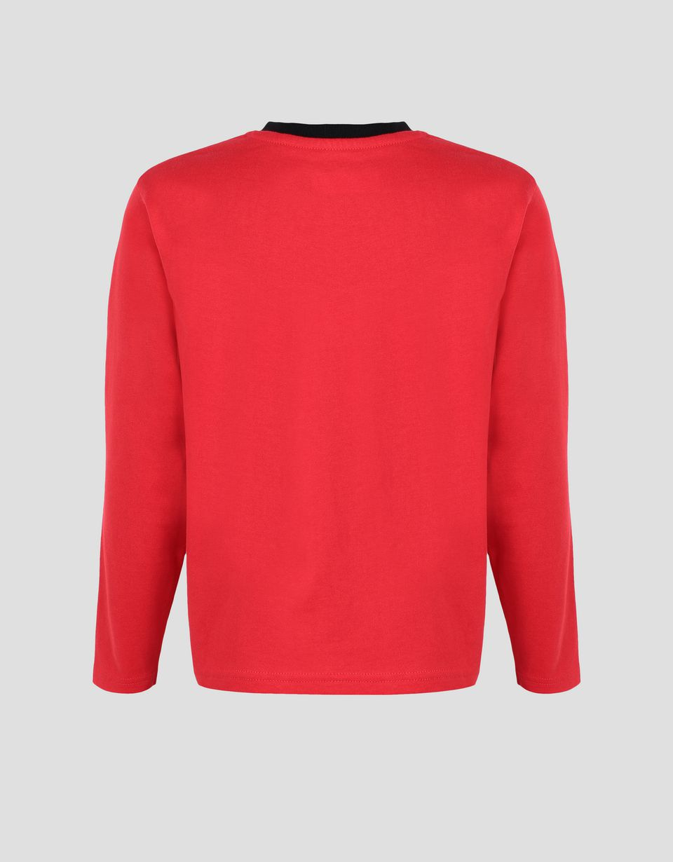 Scuderia Ferrari Online Store - Boys' long-sleeve T-shirt with LEGEND print - Long Sleeve T-Shirts