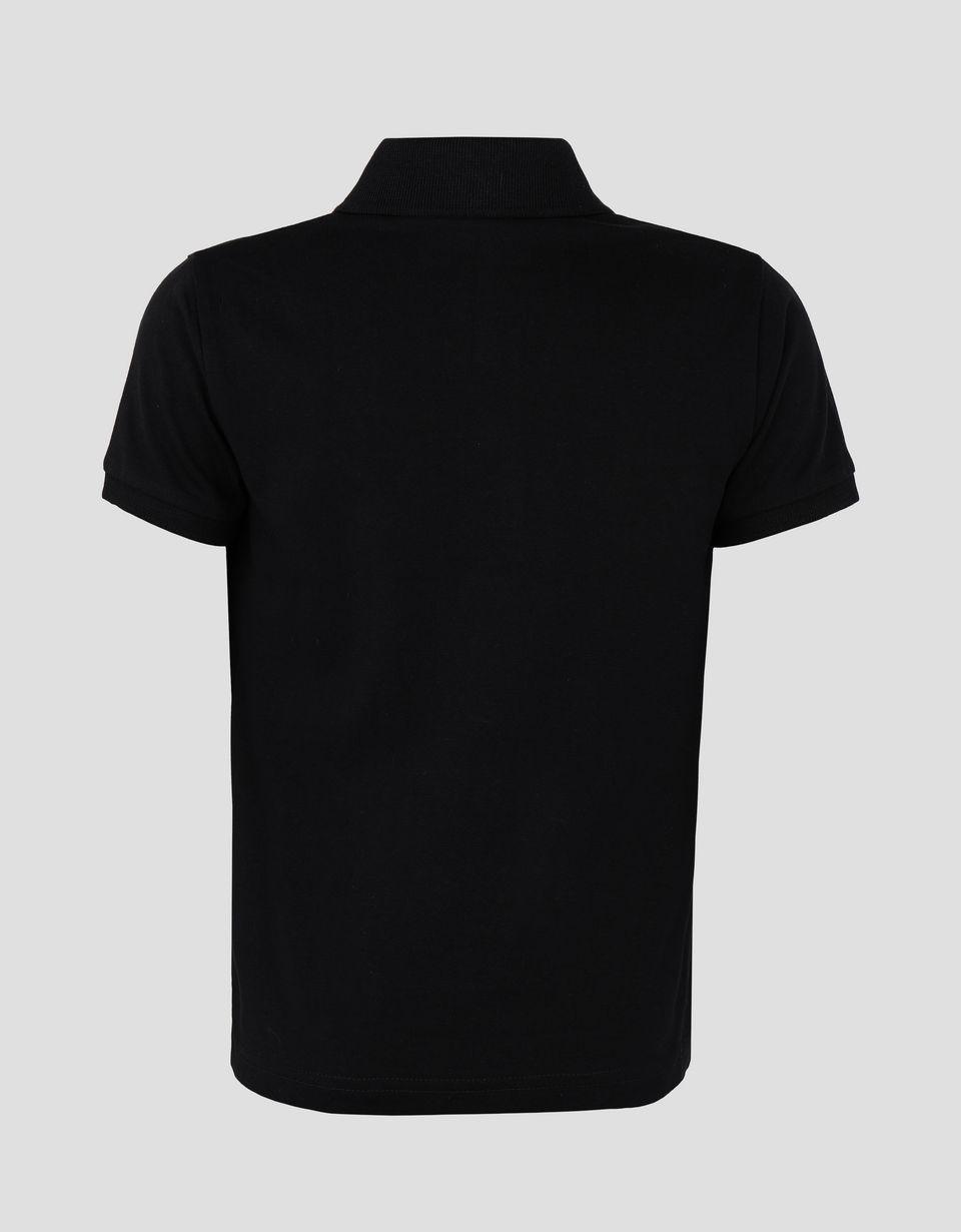 Scuderia Ferrari Online Store - Boys' jersey polo shirt with FERRARI SHIELD print -