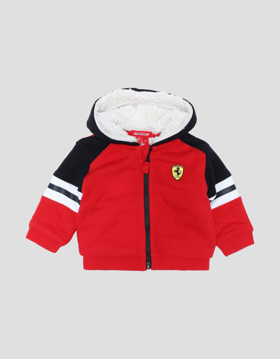 Scuderia Ferrari Online Store - Infants' fleece track jacket with full zip - Zip Hood Jumpers