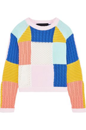 PAPER London Kimi patchwork cotton sweater