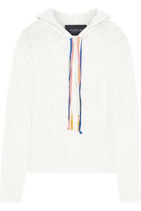 PAPER London Open-knit cotton hoodie