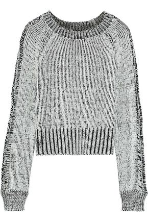 Storm Cropped Marled Cotton Sweater by The Range