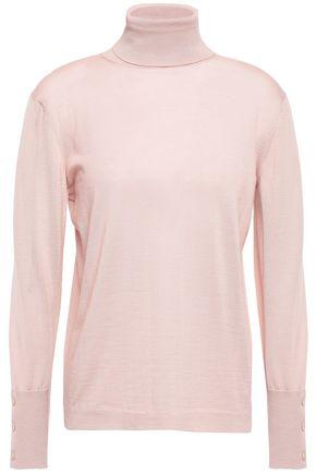 AGNONA Cashmere and silk-blend turtleneck sweater