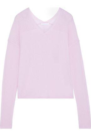DUFFY Paneled mélange cashmere sweater