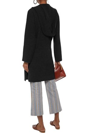 DUFFY Wool and cashmere-blend hooded cardigan