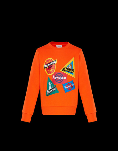 SWEATSHIRT Orange Junior 8-10 Years - Boy
