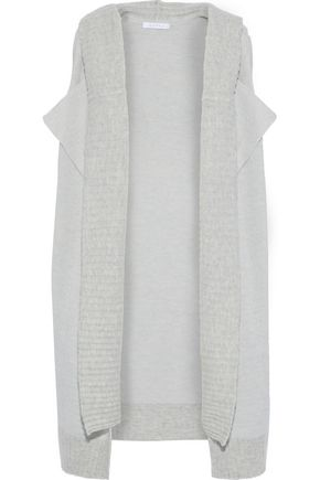 DUFFY Layered wool-blend hooded vest