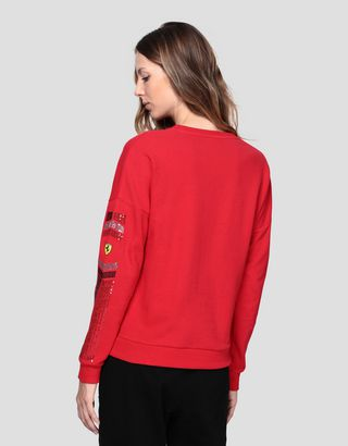 Scuderia Ferrari Online Store - Women's sweatshirt with LIMITLESS print - Crew Neck Sweaters