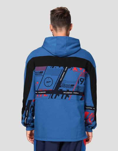 Puma Scuderia Ferrari men's hooded sweatshirt with print