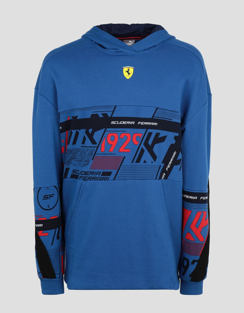 Scuderia Ferrari Online Store - Puma Scuderia Ferrari men's hooded sweatshirt with print - Zip Hood Jumpers