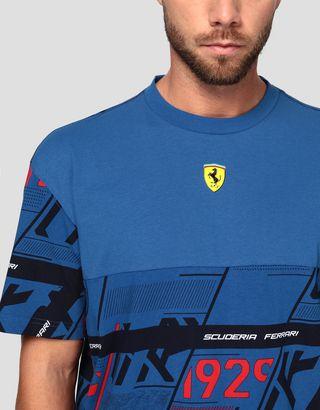 Scuderia Ferrari Online Store - Puma Men's T-shirt with Scuderia Ferrari print - Short Sleeve T-Shirts